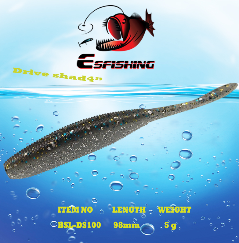 Fishing Equipment Wholesale 24pcs Esfishing Drive Shad 4 Fishing lure Soft Bait Iscas Artificiais Pesca Carp Pike Trout fishing lure soft bait bugsy shad 2 8 swimbait iscas artificiais pesca 10pcs 7cm 2 5g silicone bait carp fishing tackles trout