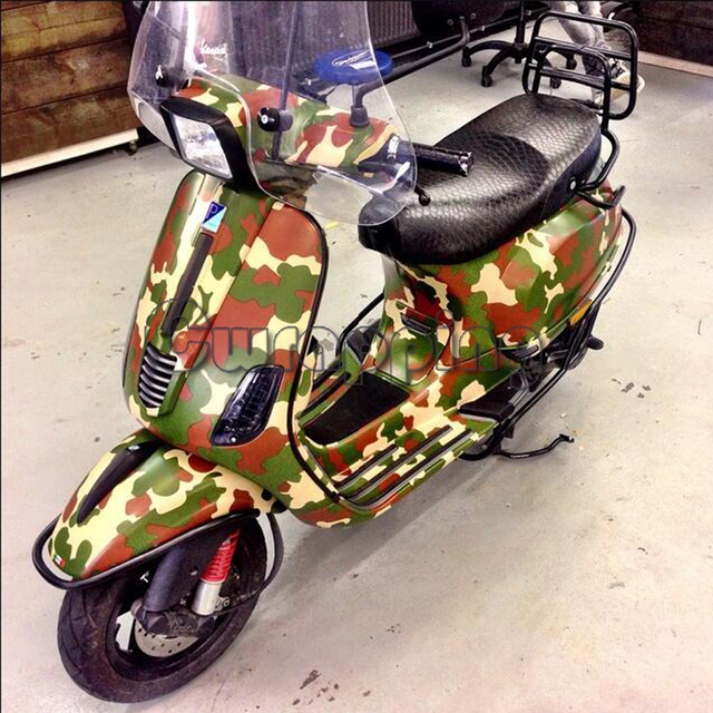 Forest style camouflage vinyl sheet green military camo car wrapping film waterproof pvc motorcycle scooter decals