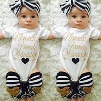 2017 Funny Baby Clothes Newest Family Bodysuit Set Toddler Baby Girl Clothes Infant Tiny Cotton Bodysuit