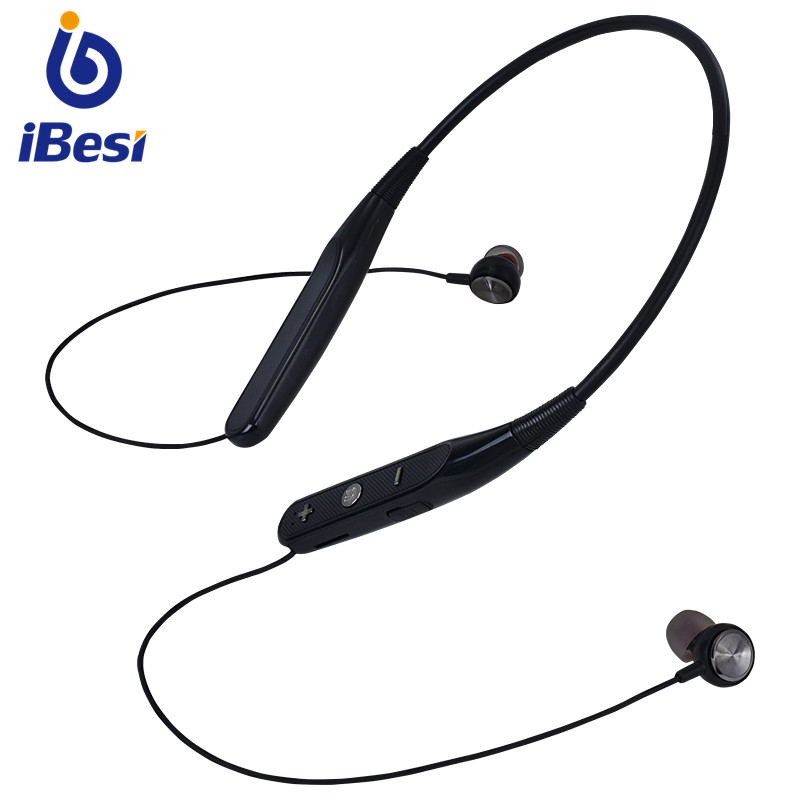 IBesi 733 Bluetooth Earphones Wireless Headphones Sport Neckband Support TF Card Earbuds Headset With Mic For IPhone Xiaomi