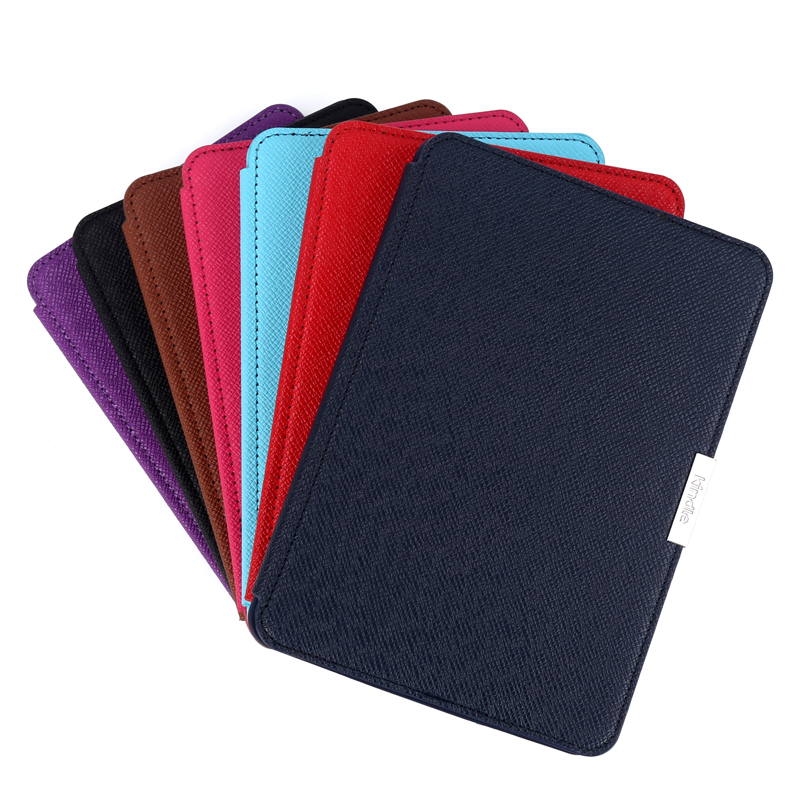 Ímã inteligente pu leather book case capa para amazon kindle paperwhite 1 2 3 6 6 6 geração funda casos para kindle paperwhite