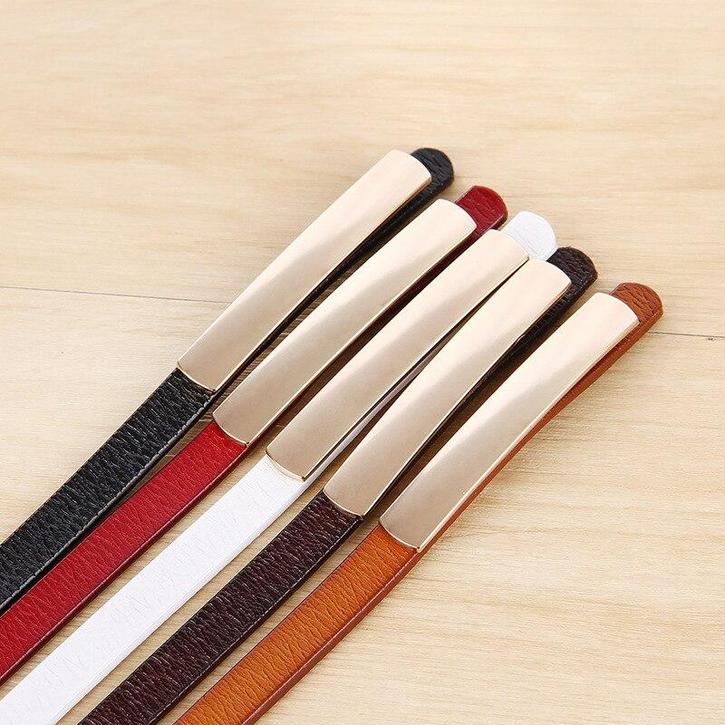 Cowhide Women Belt Luxury Ladies Leather Belt Fine Belt
