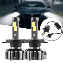 Car Led Headlight Super Bright 8000lm Car H4 N7 LED Headlights COB Headlamp Auto Front Bulbs Car Accessories(China)