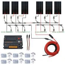ECO off Grid Solar System 100W Mono Solar Panel & Intelligent Regulator for Camp