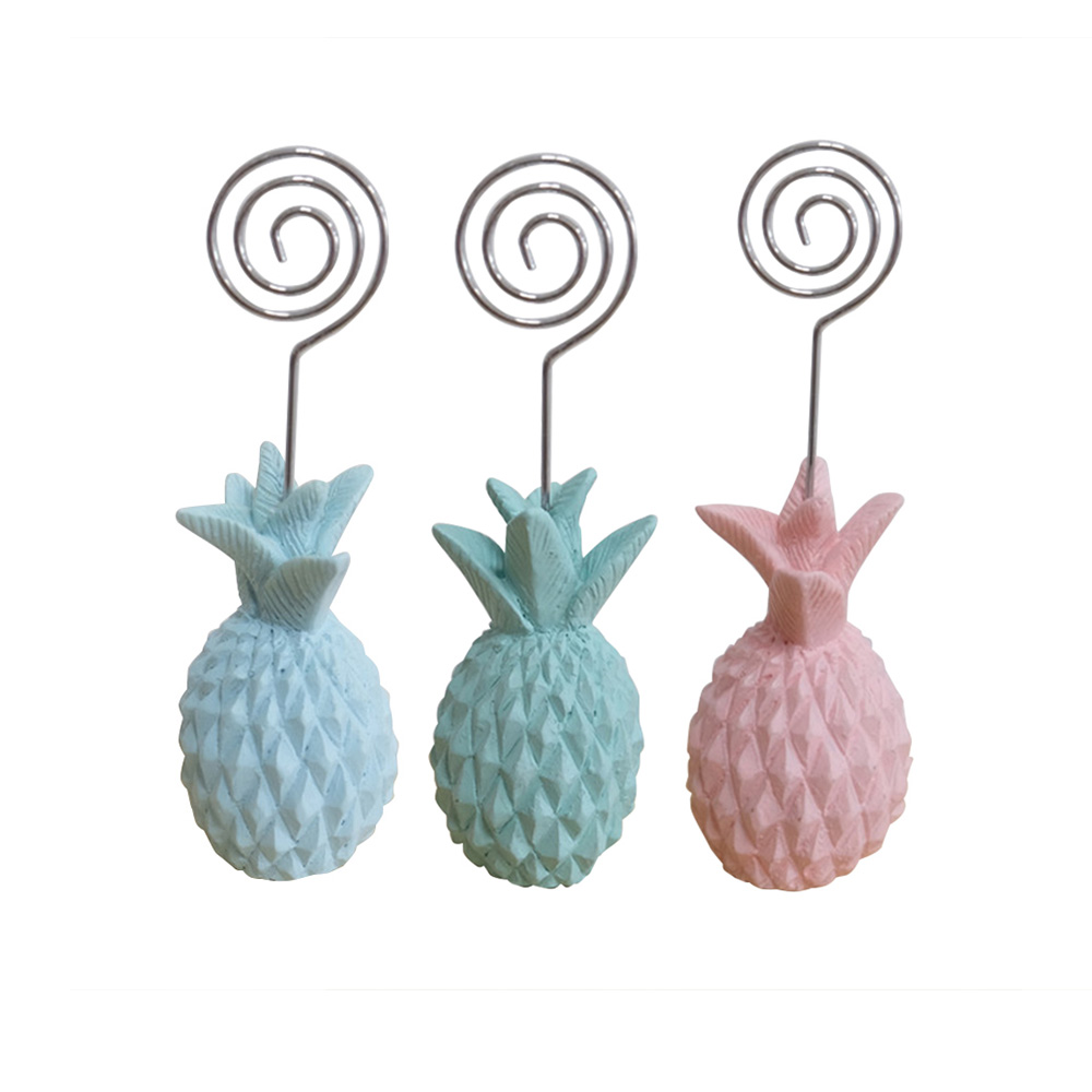 Resin Ornaments Folder Clip Folder Pineapple Folder Place Cardholder ...
