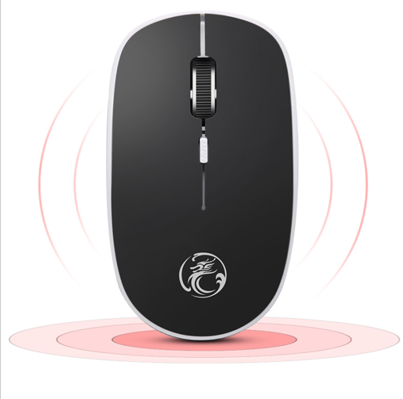66532e47b0f iMice Silent Wireless Mouse Ultra quiet Mice 2.4G Ergonomic Mouse Noiseless  Button With USB Receiver