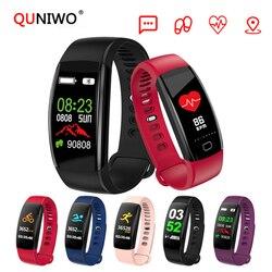2018 New Heart rate Smart band IP68 Waterproof Color screen Blood pressure oxygen Fitness tracker smart bracelet GPS watch men