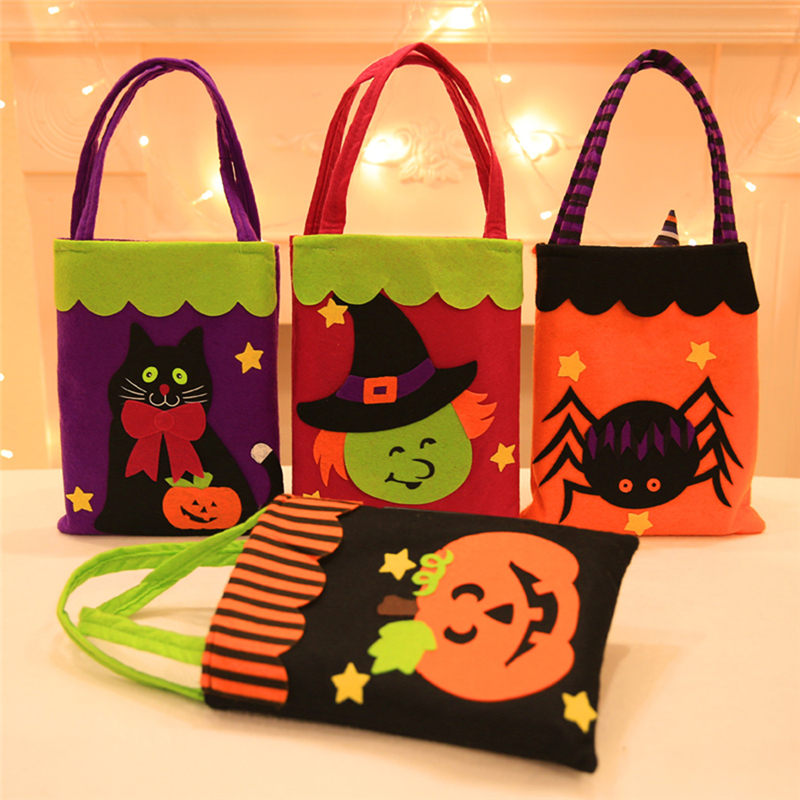 Colorful Candy Bag Halloween Trick or Treat Bags Sacks Perfect Gift For Children
