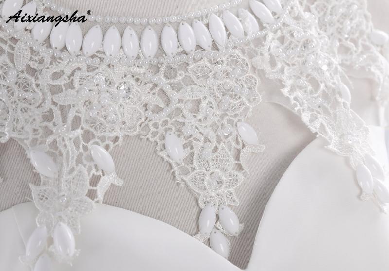 New Hot Selling Vestido de Noiva Casamento Robe De Mariage Scoop A-line lace Appliques Custom Made Wedding Dresses 8
