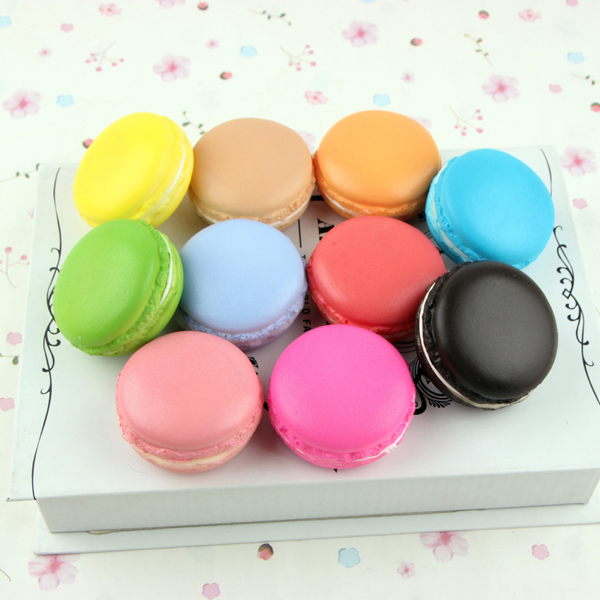 10pcs New Kids Toys Colorful Squishy Bread Makaron Cake