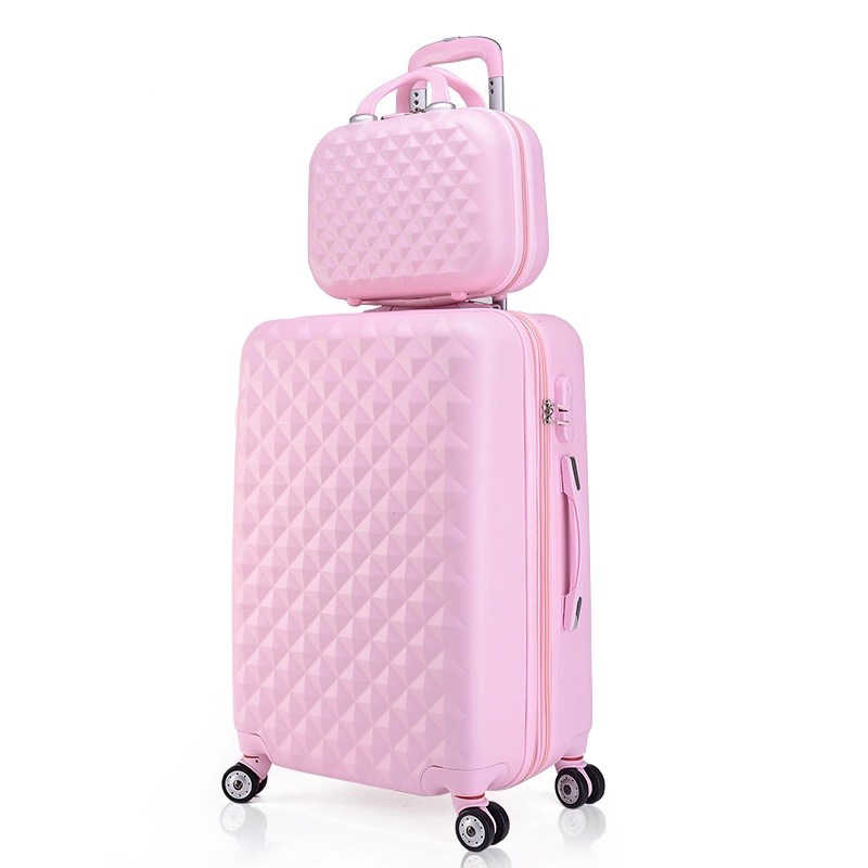 2befb4ea8f1b5 Detail Feedback Questions about Girls cute trolley luggage set ABS hardside  cheap travel suitcase bag on wheels women spinner rolling suitcase cosmetic  bag ...