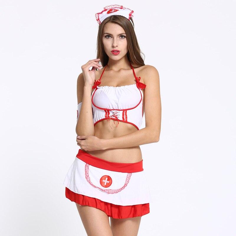 Devoted Sexy Lingerie Nurse Cosplay Costume Uniform Temptation Sexy Underwear Sleepwear Women's Exotic Apparel