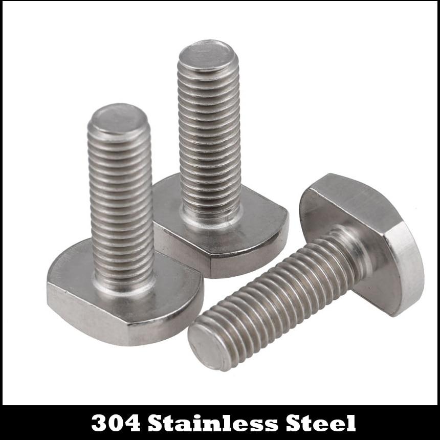 M6 M6 * 16/20/25/30/35/40 M6x16/20/25/30/35/40 304 Edelstahl 304ss T Form Quadratisch Hammer Schraube T-kopf Bolzen