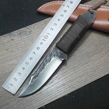 The new hand forged knife hunting knives, outdoor equipment small knife sharp knives to survive high hardness