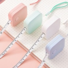 1.5m Mini Rulers Colorful Cute Design Great for Travel Camping Kawaii Accessories Retractable Ruler Centimeter/Inch Tape measure