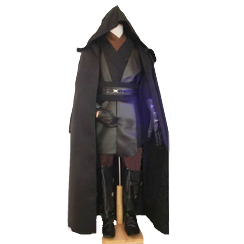 Custom Made Adult Star Wars Costume Anakin Skywalker Cosplay Halloween Carnival Party Costume With Gloves And Gloves
