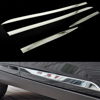 BBQ@FUKA Free Shipping Stainless Steel Exterior Door Side Line Body Garnish Molding Cover Trim Bezel For Ford Focus MK3 12 17
