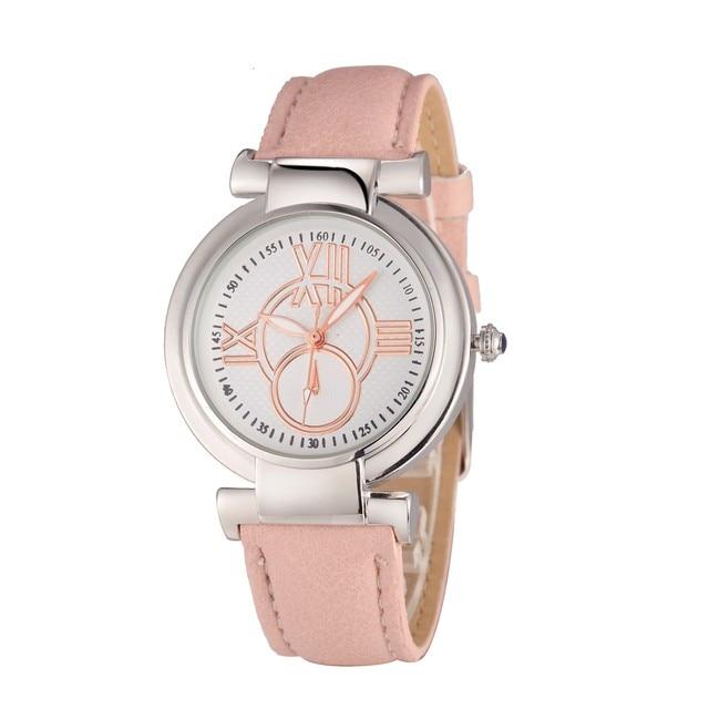 9cadfbe8e8fe Fashion Geneva Women Leather Band Stainless Steel Quartz Analog Wrist Watch  Ladies Watches 2016 Clock Women