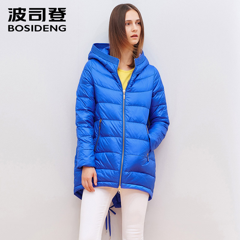 BOSIDENG early winter 90% duck down coat hood down jacket Women Parkas Women's Quilted Coat mid-long dovetail B1501080
