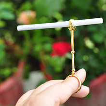 1 Pcs Metal Ring Cigarette Rack Holder Clip Finger Hand Smoking Accessories Gift WXV Sale