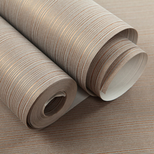 Modern Stripe Non-Woven Wallpaper roll for walls Living room Bedroom Desktop wall papers Home Decor QZ0279(China)
