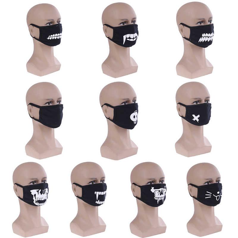 10 estilo bonito algodão dustproof boca máscara facial anime dos desenhos animados kpop urso sorte porco dentes mulheres men muffle rosto máscaras boca quente