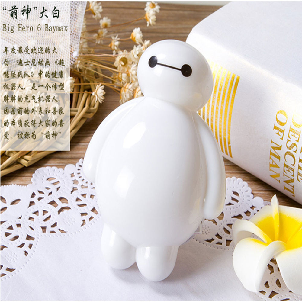 Lovely Kids Baby Children Baymax Sensor LED Night Lamp Sleep Bedroom Light Lighting Plug US Reading Room Home Decor Gift