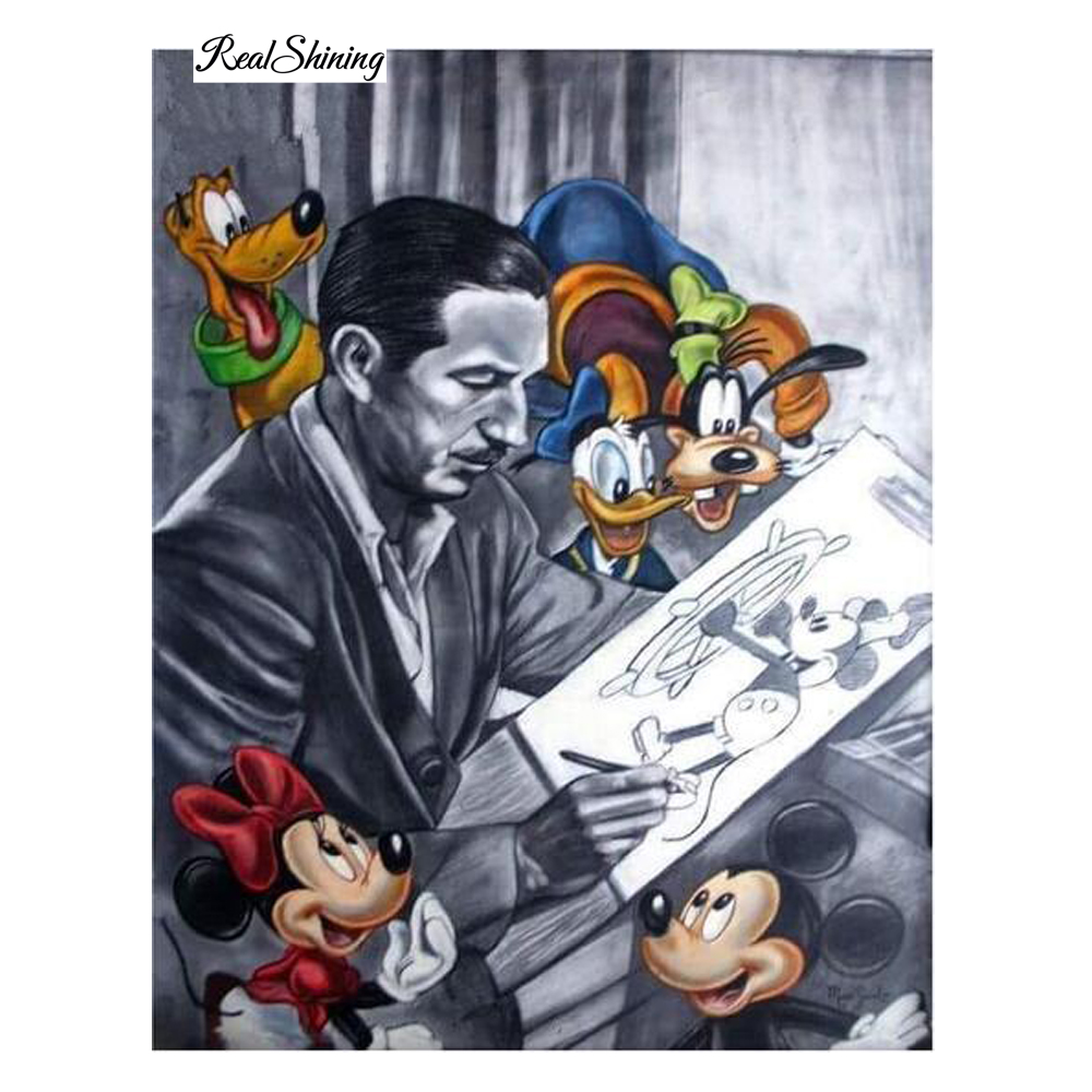5D Diamond Painting Cartoon Man Mouse Room Decor Needlework Crafts Gift DIY Diamond Mosaic Embroidery Full Crystal Painting R24