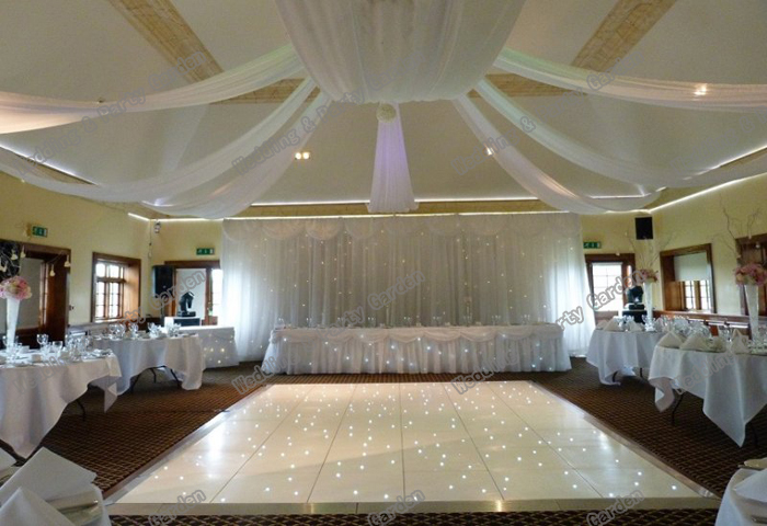 12 pcslote mariage plafond draper canopy draperie 10 m x 07 m blanc de marie - Drap Mariage Plafond