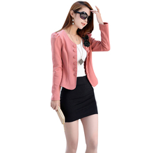 Nice Pop New Women Slim Elegant double-breasted Suit Jacket Female Lady Suit Overalls Blazer Feminino JT97