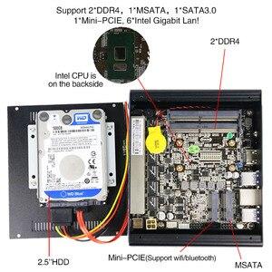 Image 3 - Yanling 最新 pfsense ボックス 7th 世代 kaby 湖インテル i5 7200u 2.5 デュアルコアファンレスケース 6 lan ミニサーバ pc サポート AES NI