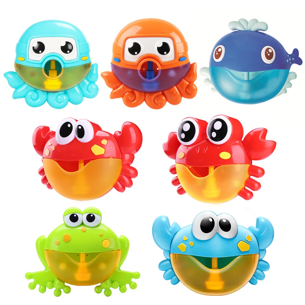 VIP Dropship Bubble Machine Crabs Music Light Electric Bubble Maker Baby Kids Outdoor Swimming Bathtub Soap Machine With Music