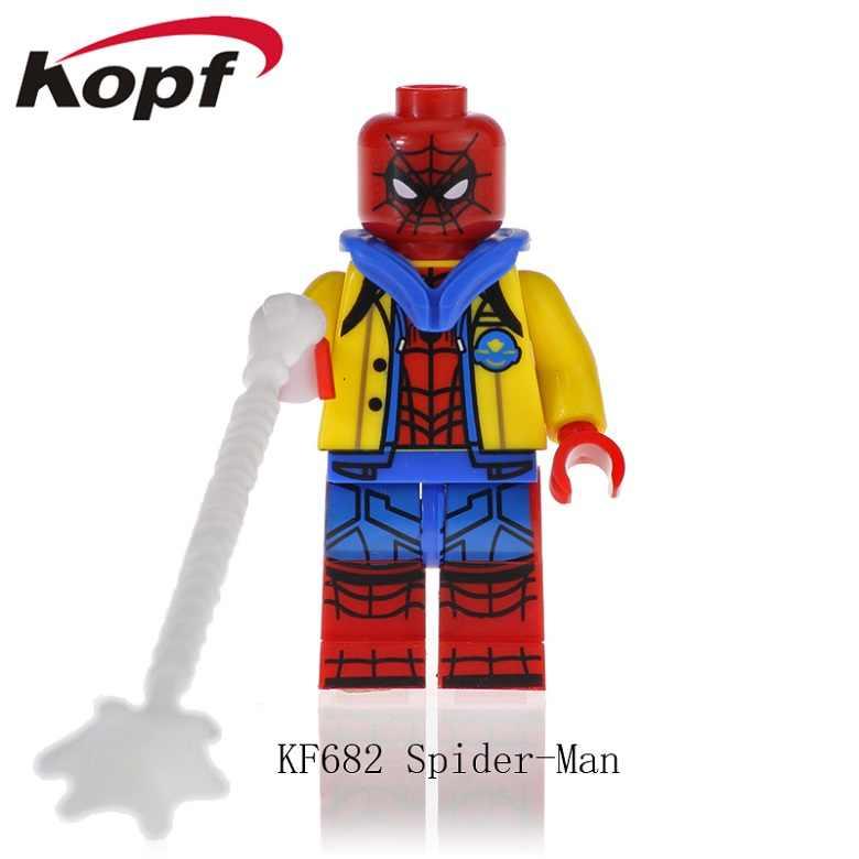 KF683 строительные блоки Человек-паук анти-ванеллоп ломает интернет кирпичи Аниме фигурки Куклы обучение для детей игрушки