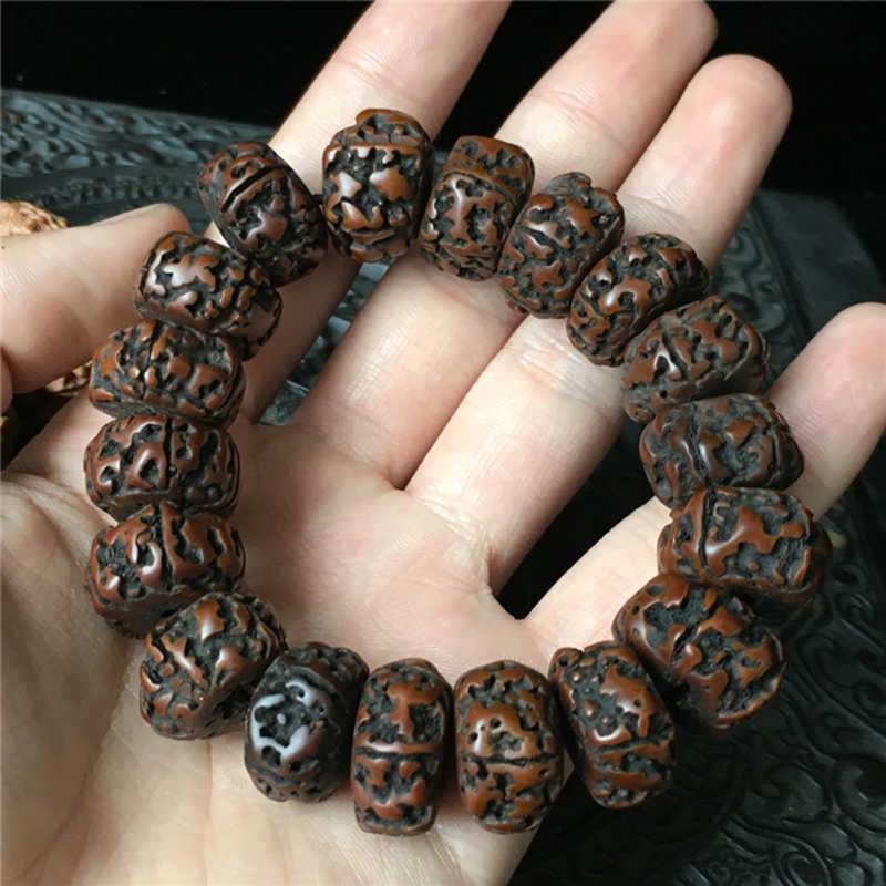 BRO882 Тибет старый рудракша Бодхи браслеты для мужчин