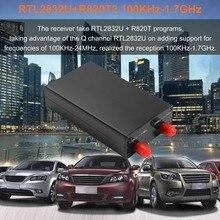 Новый автомобиль укладка 100 кГц-1,7 GHz весь диапазон RTL-SDR Настройщик USB приемник RTL2832U + R820T2 AM, FM радиоприемник Software Define Radio