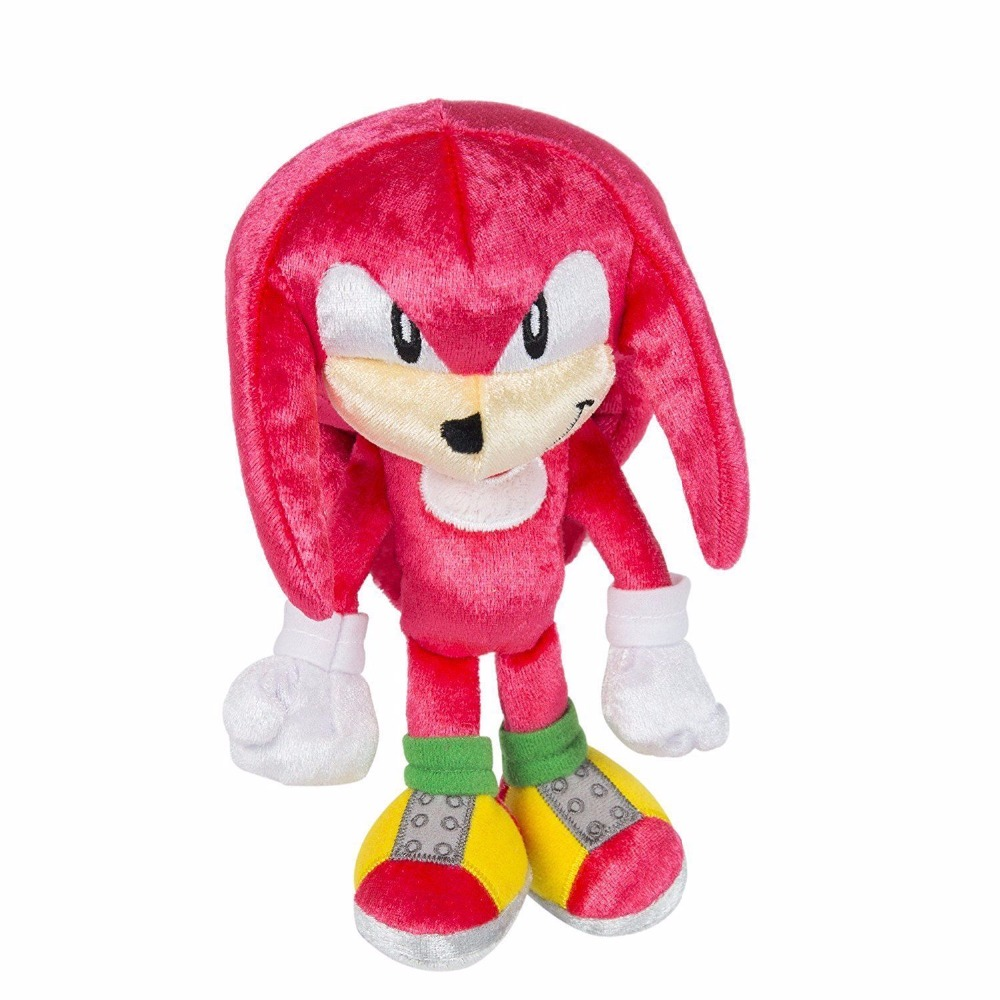 "New 25th Anniversary Knuckles Plush The Hedgehog Boom 8"" Action Figure Toy"