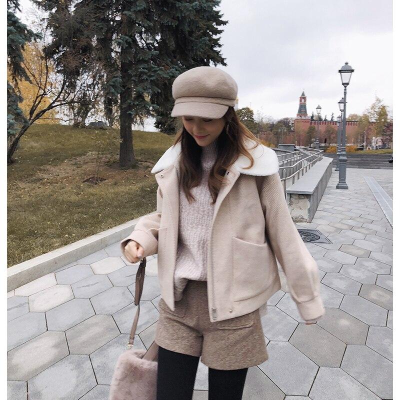 Mishow 2018 Women Warm Short Woolen Coat Women Fall Winter Fashion Zipper Thicken Loose Jacket coat