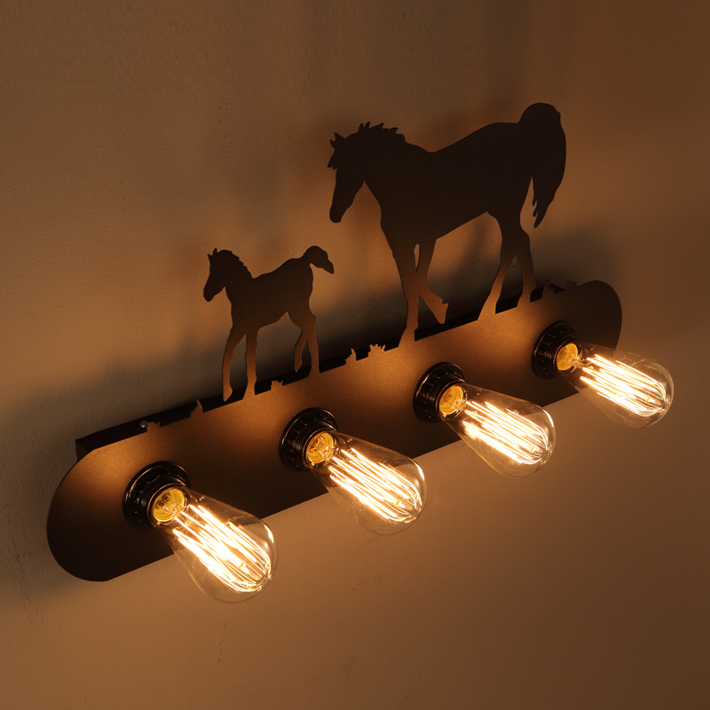American E27 Edison Bulb Art LOFT Industrial Bedroom Vintage Industrial Cafe shop Stair Antique wall Lamp Wall Sconce Luminaria vintage industrial edison glass bottle wall lamp loft light bedroom aisle cafe cafe bar store hall club coffee shop decor