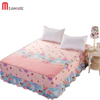 100% Cotton Bed Sheets Printed Bed Skirts Mattress Protective Cover Bed Sheet Bedspread Twin Full Queen King Size Free Shipping