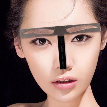 2017 Tattoo Eyebrow Measurement Ruler Balance Permanent 3d Pen Kit Eyebrow Shaping Ruler Skin Marker Stencil for Microblading