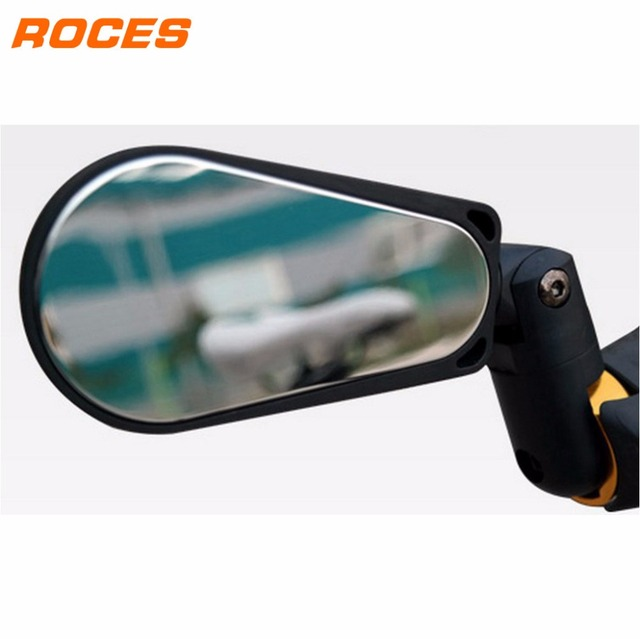 Roces Bicycle Mirror 360 Degree Rotable Bicycle Rearview Mirror with LED Back Light Cycling Night Riding Safety Rear View Mirror