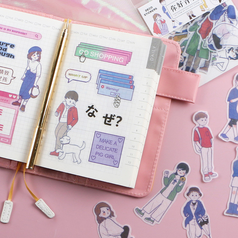 Diary Paper Lable Sealing Stickers Crafts Scrapbooking Decorative DIY handbook cartoon sticker in Stickers from Toys Hobbies