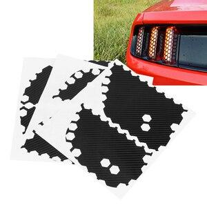 Image 2 - Juego de 6 pegatinas decorativas para la luz trasera del coche, calcomanías decorativas para Ford Mustang, accesorios para el coche