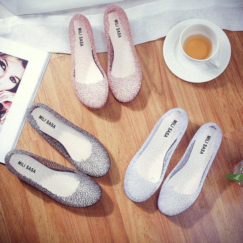 De La Y Jalea Sandalias Primavera Hueco Verano Único Zapatos Pájaro Nuevas Plástico Nido 2017 Agujero Mujeres Del TYnOpp7