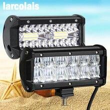 Lampe de travail Led pour motocyclette, 6.5 pouces, barre de Led Bar, lampe pour motocyclette, pour 4x4 4WD, ATV UTV SUV, lampe pour motocyclette hors route, lumière Led pouces