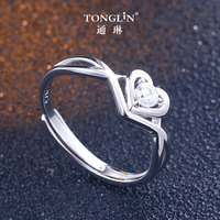 2018 Exquisite 925 Silver Heart Wedding Rings zircon Ring For Women Bijoux Anel Femme Engagement Ring Statement Jewelry