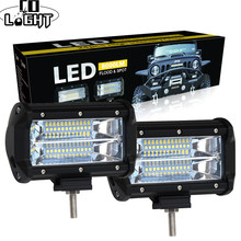 CO LIGHT 5 inch Led Work Light Bar 12V 72W 144W Spot Flood 24V 6000K Led Bar for SUV Offroad ATV Jeep Driving Lights Car Styling
