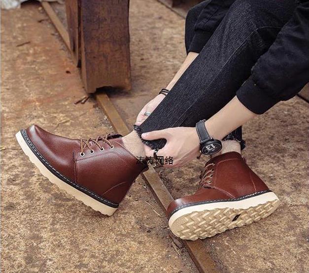2018 Winter Neue Männer Große Größe Stiefel Schuhe Mode Vielseitig Baumwolle Schuhe Einfach Und Leicht Zu Handhaben