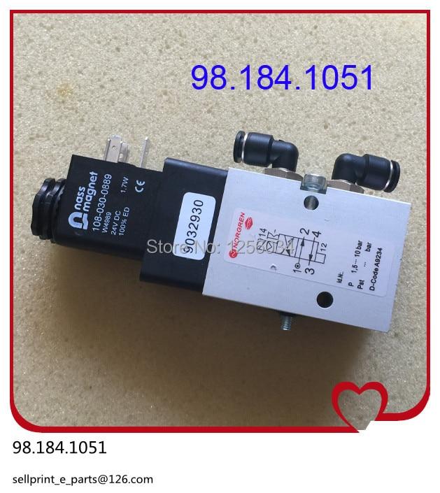 5 pieces 98.184.1051 solenoid valve for heidelberg CD102 machine, heidelberg valve for SM102 machine 98.184.1051/02, 2625484