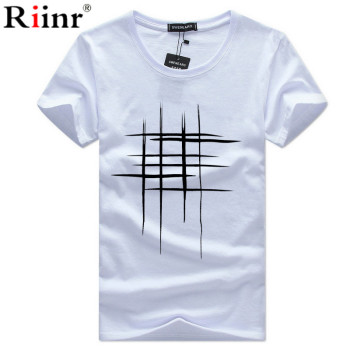 white print casual mens tshirt